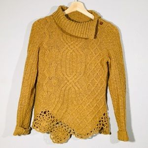Anthropologie Moth Cable Pathways Sweater size XS